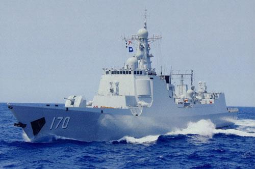 Tàu khu trục Lan Châu lớp Lữ Dương II (Type-052C) của hải quân Trung Quốc. Ảnh: PLA Daily.