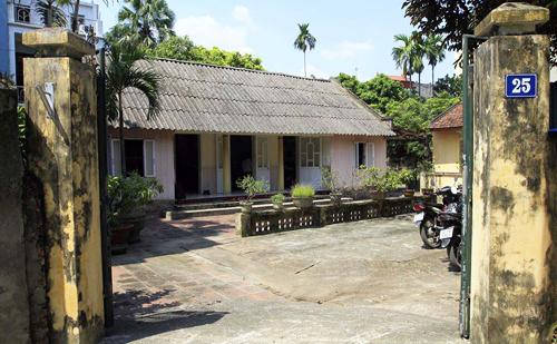Ngôi nhà của cố Tổng bí thư Đỗ Mười tại thôn 3, xã Đông Mỹ, huyện Thanh Trì, Hà Nội. Ảnh: Tất Định.