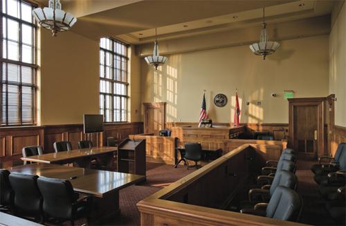 Một phòng xử án tại Mỹ. Ảnh: Historything