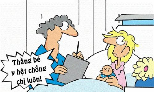 Vợ nổi điên vì con hàng xóm giống chồng