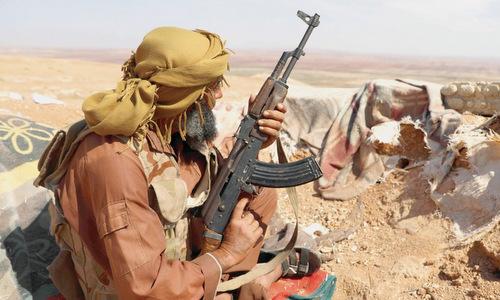 Một tay súng nổi dậy tại tỉnh Idlib hồi đầu tháng 9. Ảnh: Reuters.