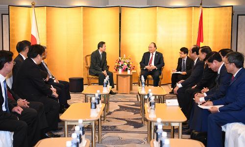 Thủ tướng Nguyễn Xuân Phúc tiếp các doanh nghiệp Nhật Bản. Ảnh: Báo Chính phủ.