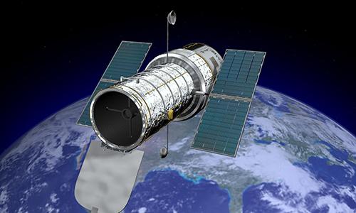 Kính viễn vọng không gian Hubble của NASA. Ảnh: NBC News.