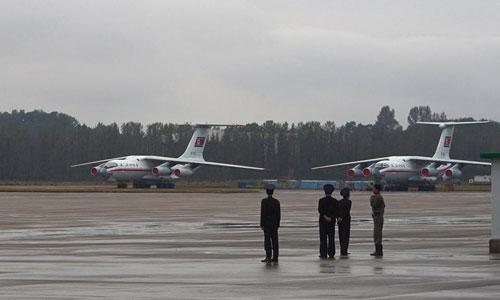 Máy bay Ilyushin Il-76 của Triều Tiên. Ảnh: Clay Gilliland