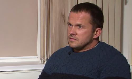 Alexander Petrov, một trong hai nghi phạm đầu độc cha con cựu điệp viên Sergei Skripal, trong cuộc phỏng vấn hồi tháng 9. Ảnh: RT.