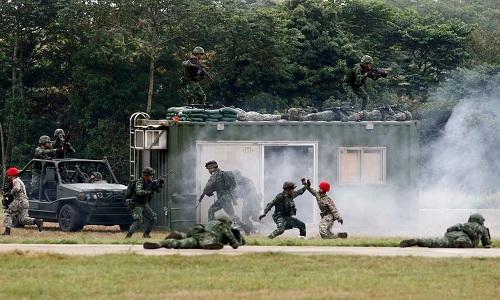 Đài Loan diễn tập đẩy lùi cuộc tấn công của Trung Quốc