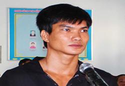 Nguyễn Minh Sơn tại tòa. Ảnh: An Nam.