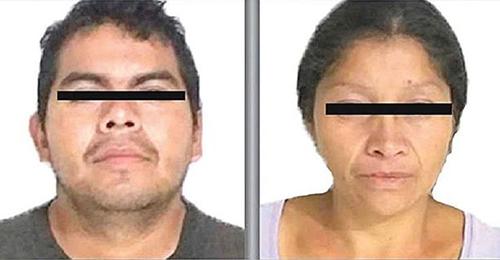 Hai nghi phạm Juan Carlos và Patricia. Ảnh: Mexico Daily News