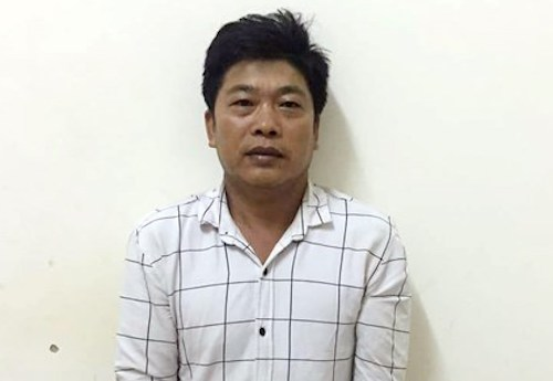 Trương Huy Kiên lúc bị bắt.