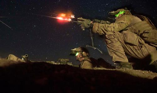 Binh sĩ thuộc Tiểu đoàn 2, Trung đoàn Biệt kích 75 của Mỹ tập trận tiêu diệt lô cốt. Ảnh: US Army.