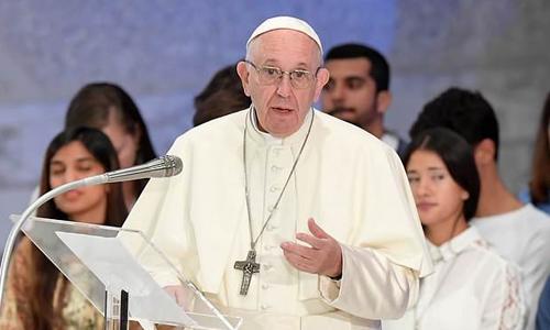 Giáo hoàng Francis trong buổi giảng đạotại Vatican cuối tuần trước. Ảnh: AFP.