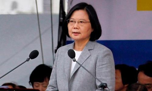 Lãnh đạo Đài Loan Thái Anh Văn hôm nay phát biểu tại Đài Bắc. Ảnh: AFP.