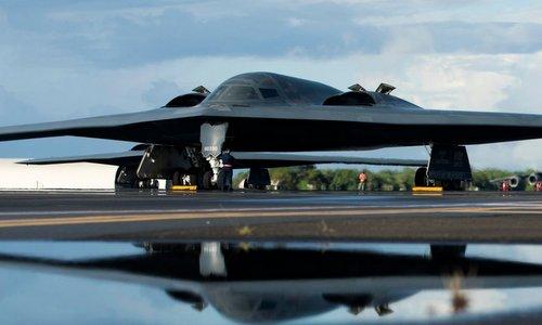Oanh tạc cơ B-2 tại căn cứ Trân Châu Cảng hồi đầu tháng 10. Ảnh: USAF.