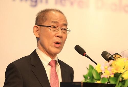 Ông Hoesung Lee, Chủ tịch Ban Liên chính phủ về BĐKH. Ảnh: Gia Chính