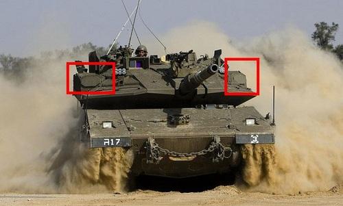 Radar của hệ thống Trophy trên xe tăng Merkava 4. Ảnh: Army Recognition.