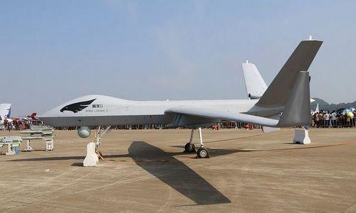 Bản mẫu UCAV Wing Loong II được Trung Quốc giới thiệu năm 2017. ảnh: Army Recognition.