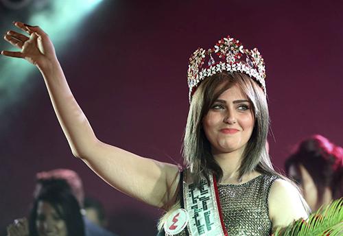 Shimaa Qasim Abdulrahman khi đăng quang Hoa hậu Iraq năm 2015. Ảnh: Osul