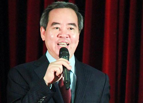 Ông Nguyễn Văn Bình tại Đại học Quốc gia TP HCM hôm nay. Ảnh: Mạnh Tùng.