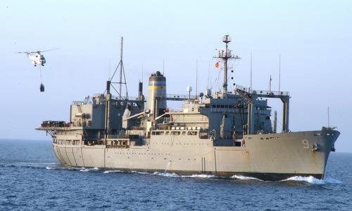 Tàu hậu cần thuộc Bộ tư lệnh Hải vận Mỹ gần Trung Đông năm 2004. Ảnh: US Navy.