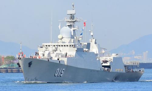 Tàu Trần Hưng Đạo của Việt Nam đến Nhật Bản đầu tháng 10. Ảnh: JMSDF.