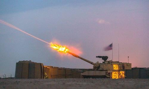 Pháo tự hành M109A6 Paladin của Lục quân Mỹ khai hỏa tại Iraq năm 2017. Ảnh: US Army.
