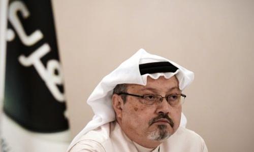 Jamal Khashoggi trong một cuộc họp báo ở Manama, thủ đô Bahrain, hồi năm 2014. Ảnh: AFP.