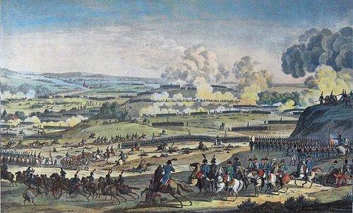 Quân Pháp tấn công đối phương tại trận Jena. Ảnh: War History.