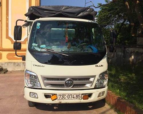 Xe tải được bộ đôi dùng để chở bò ăn trộm. Ảnh: Đ.H