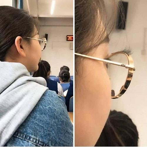 Mốt làm đẹp cho cô nàng bốn mắt.