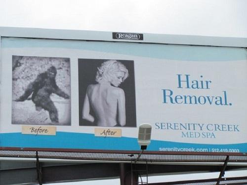 Quảng cáo triệt lông siêu ấn tượng.