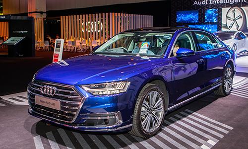 Audi A8 L mới ra mắt tại Singapore hôm 10/10.