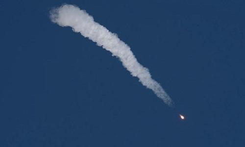 Tàu Soyuz rơi sau khi gặp sự cố. Ảnh: Space.
