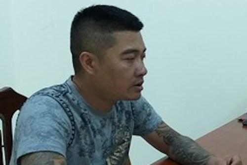 Trần Văn Hoàng tại cơ quan điều tra.