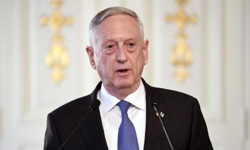 Bộ trưởng Quốc phòng Mỹ Mattis. Ảnh: AP.