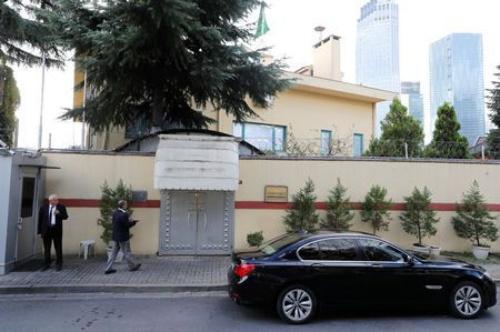 Lãnh sự quán Arab Saudi tại Thổ Nhĩ Kỳ, nơi nhà báo Khashoggi mất tích. Ảnh: Reuters.