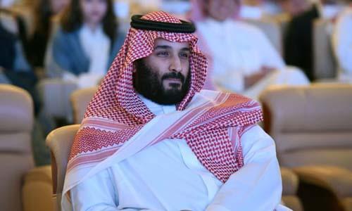 Thái tử Arab Saudi Mohammed bin Salman tại hội nghị Sáng kiến Đầu tư Tương lai (FII) năm 2017 tại Riyadh. Ảnh: AFP.