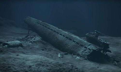 Tàu ngầm U-864 của phát xít Đức dưới đáy biển ngoài khơi Na Uy. Ảnh: RT.