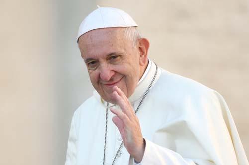 Giáo hoàng Francis tại quảng trường St.Peter ở Vatican hôm 10/10. Ảnh: AFP.