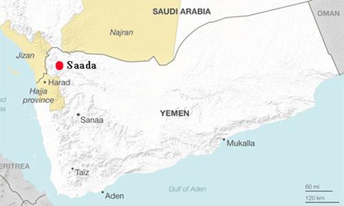 Tỉnh Jizan ở tây nam Arab Saudi, giáp biên giới với Yemen. Đồ họa: Stratfor.
