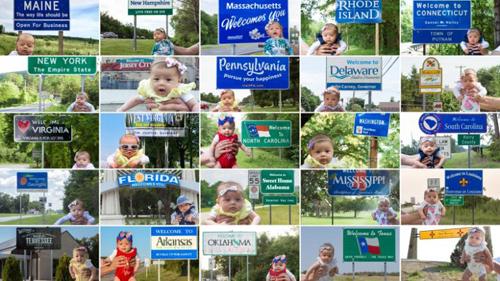 Harper sắp đi qua 50 bang nước Mỹ. Ảnh: CNN.