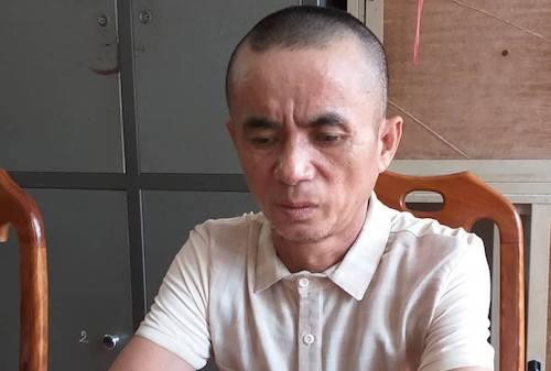 Chu Văn Tân tại cơ quan điều tra.