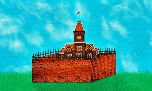Không giống nhiều quốc gia khác, đa số đại học uy tín nhất nước Mỹ là cơ sở tư thục. Ảnh: The Atlantic