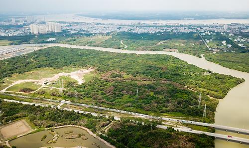320.000 m2 đất tại huyện Nhà Bè được Công ty Tân Thuận (thuộc Văn phòng Thành ủy TP HCM) bán rẻ cho Công tyQuốc Cường Gia Lai.Ảnh: Quỳnh Trần.