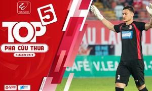 Đặng Văn Lâm dẫn đầu danh sách cứu thua tại V-League 2018