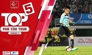 Văn Tiến dẫn đầu top 5 pha cứu thua ở vòng 26 V-League