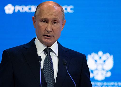 Tổng thống Putin trong một sự kiện tại Moscow hôm 3/10. Ảnh: Reuters