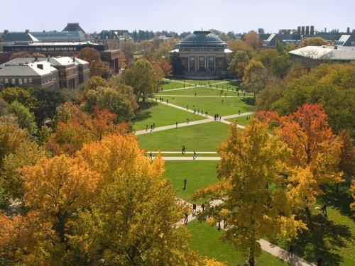 Khuôn viên Trường Đại học Illinois.