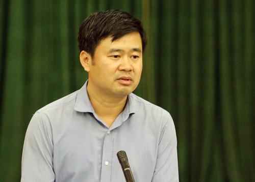 Phó chủ tịch UBND huyện Sóc Sơn Đỗ Minh Tuấn. Ảnh: Võ Hải.