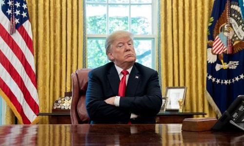 Tổng thống Mỹ Donald Trump trong cuộc họp báo tại Nhà Trắng hôm 10/10. Ảnh: AFP.