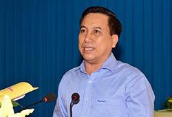 Chủ tịch TP Trà Vinh Diệp Văn Thạnh khi đương chức. Ảnh: Cổng thông tin tỉnh Trà Vinh.